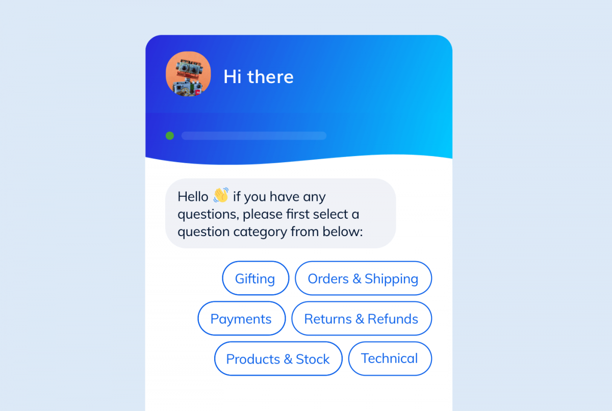 A customer service chatbot