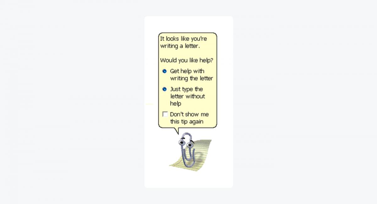 Microsoft's virtual assistant - Clippy