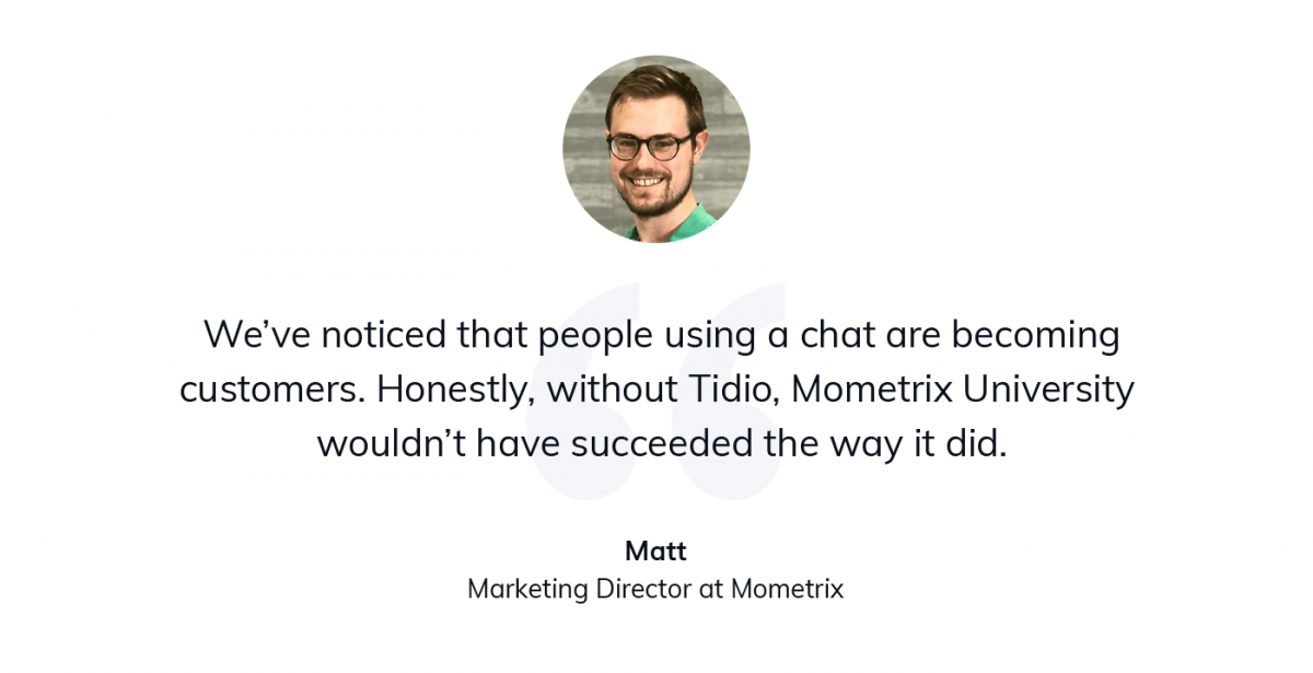 A quote from Matt from Mometrix