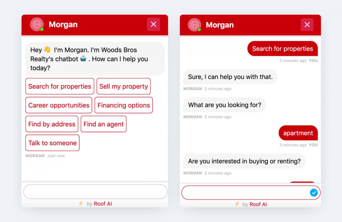 AI chatbot conversation example Morgan
