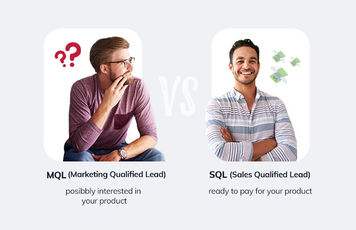 marketing qualified lead vs sales qualified lead
