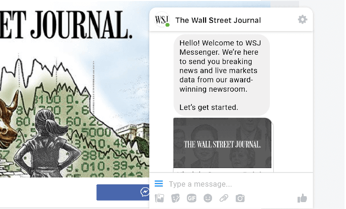 WSJ messenger chatbot used in journalism