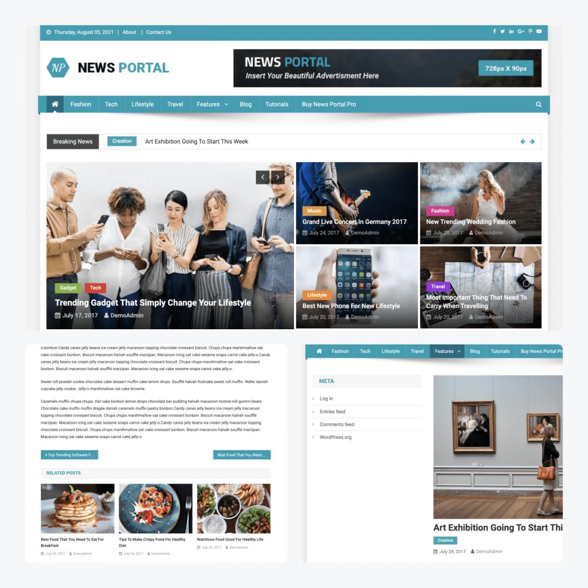 News Portal theme demo