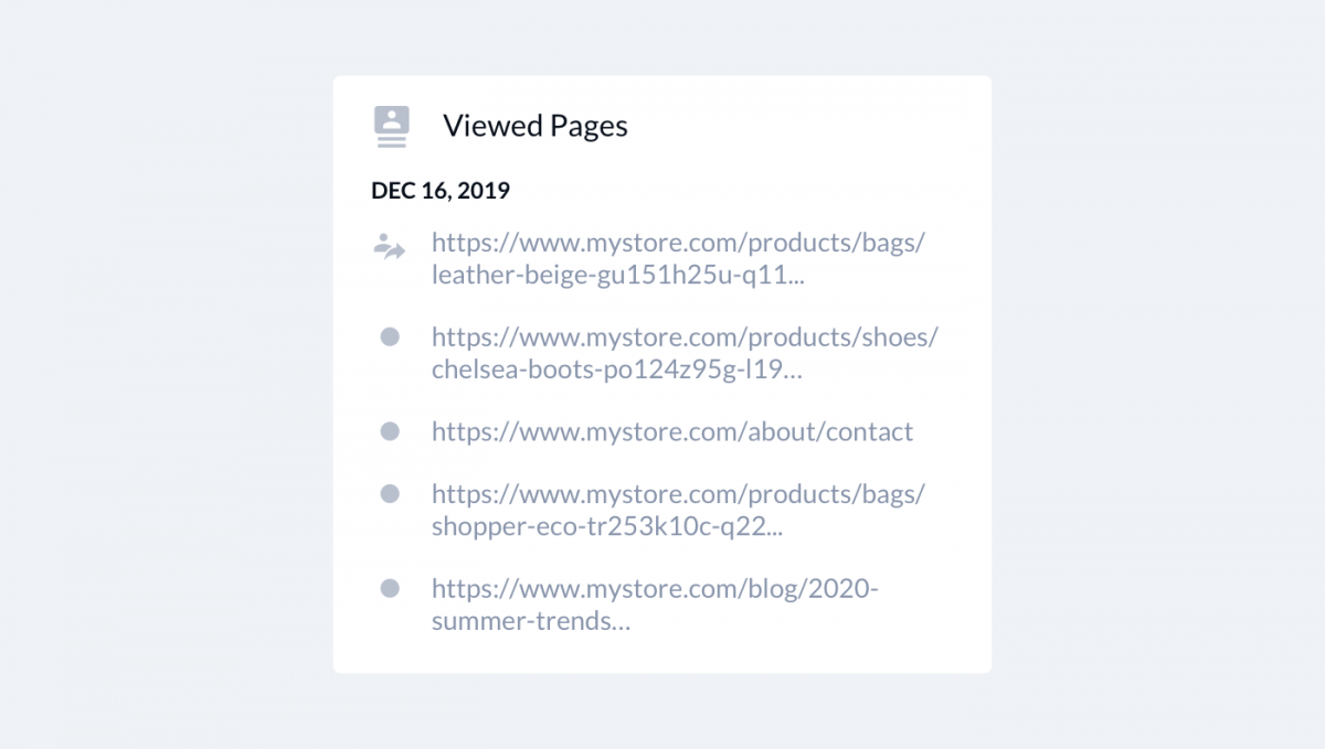 Being able to see what pages your users browse is an important part of customer behavior analytics.