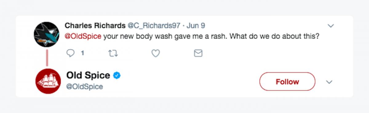 Old Spice customer's tweet
