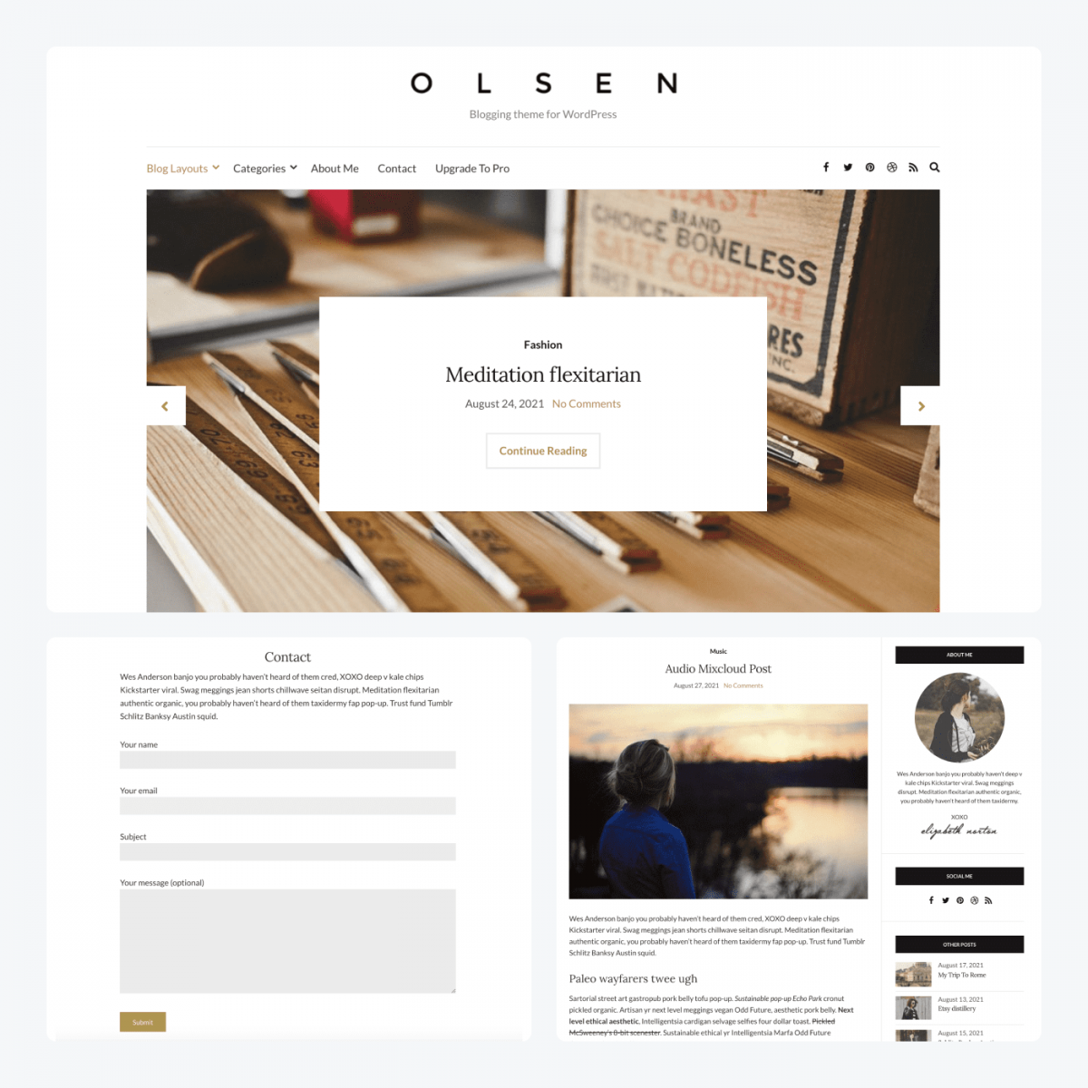 Olsen Light theme demo