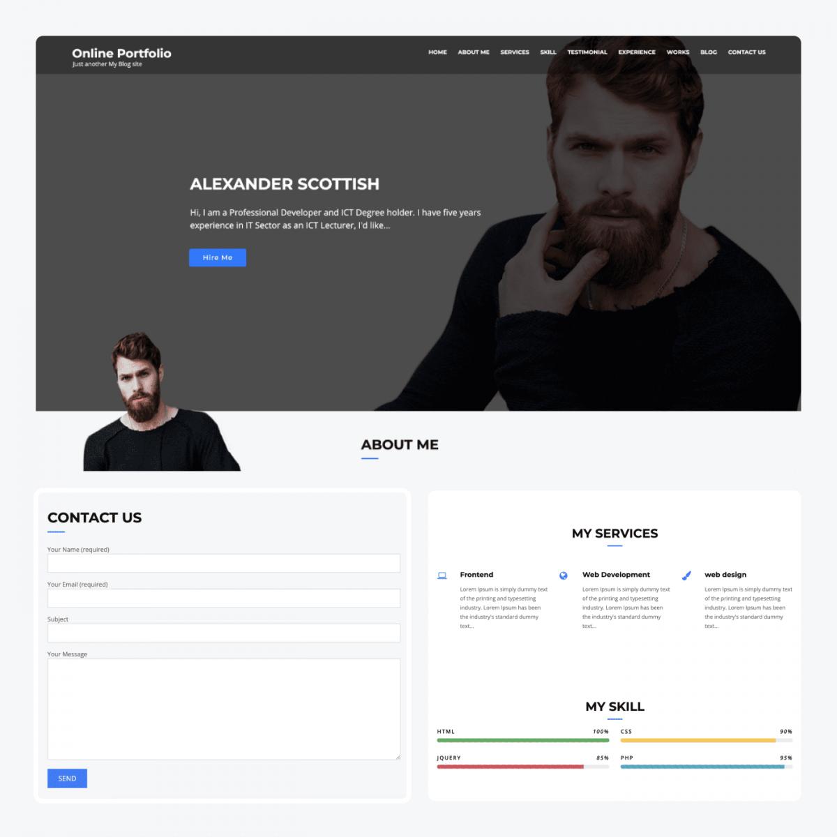 Online Portfolio theme demo