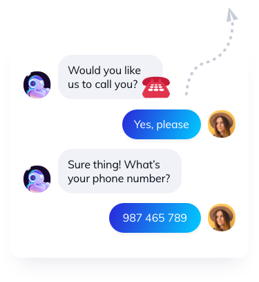 Order a phone call chatbot template