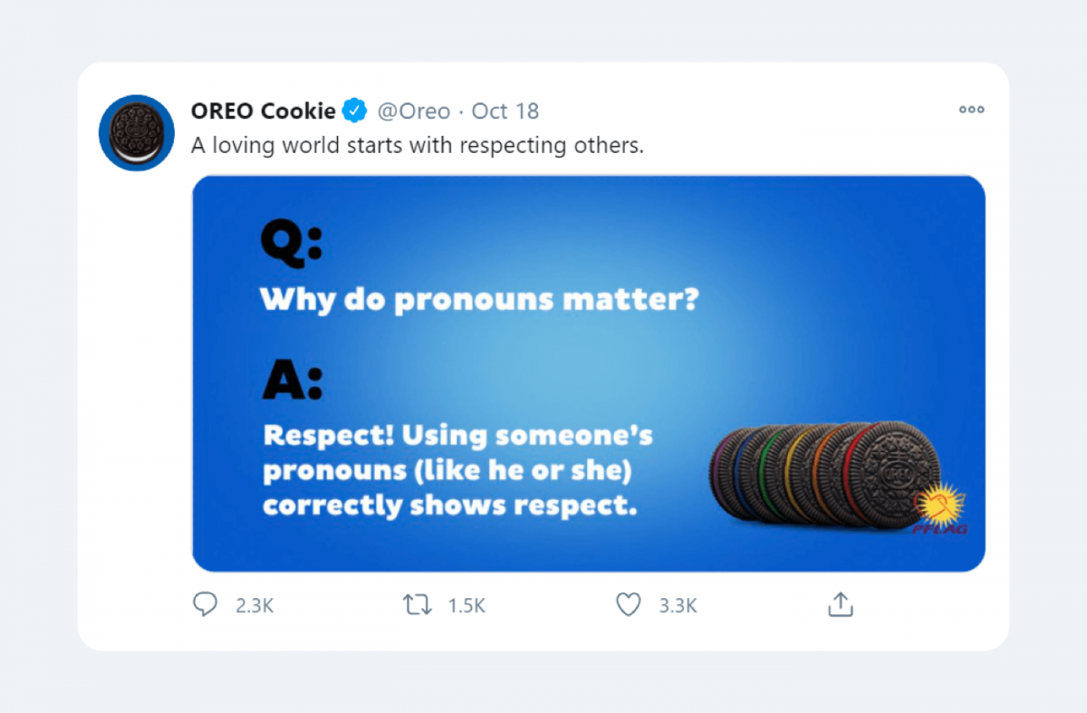 An example of a relationship marketing campaign by Oreo