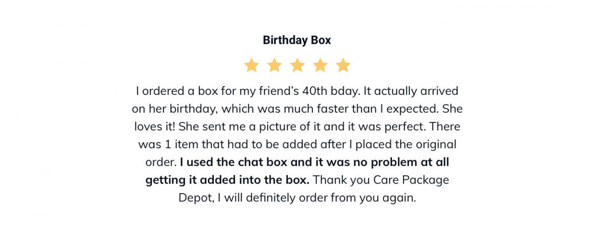 A gift box store review