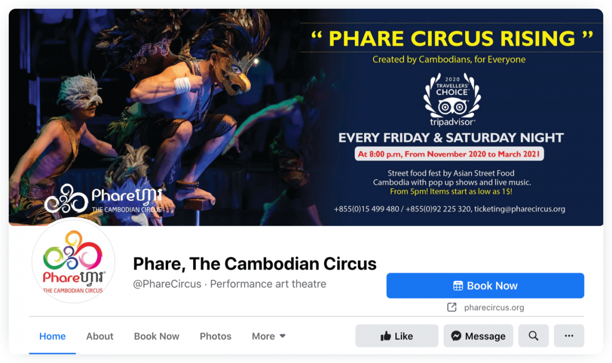 Phare Circus Cambodian Circus website