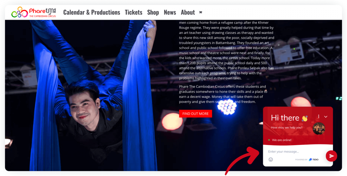 Phare Circus website