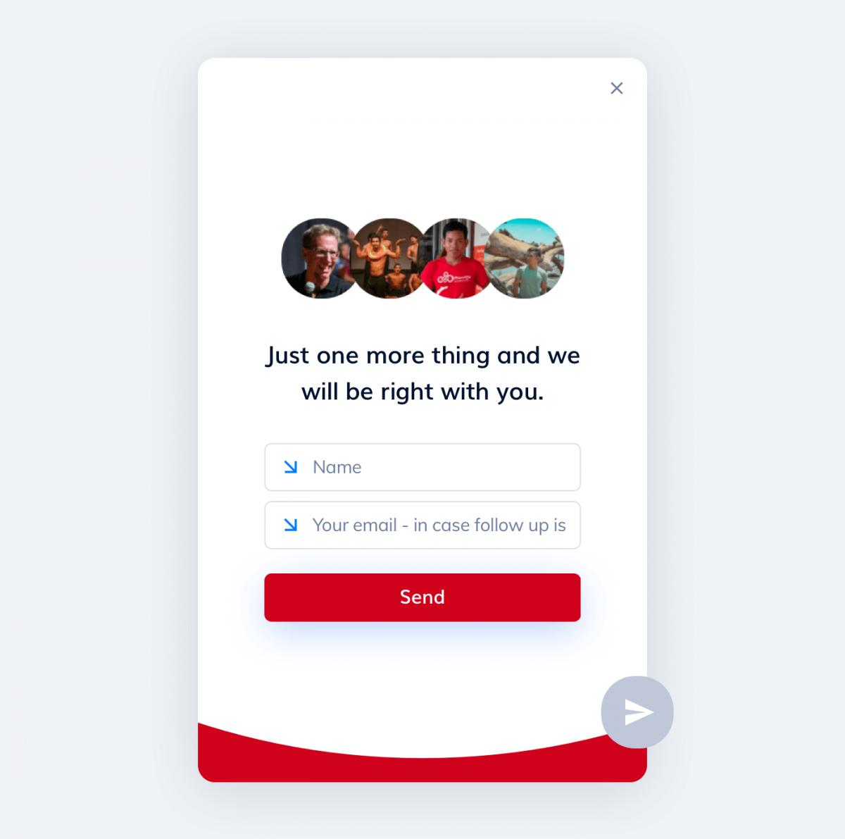 Customer service chat widget