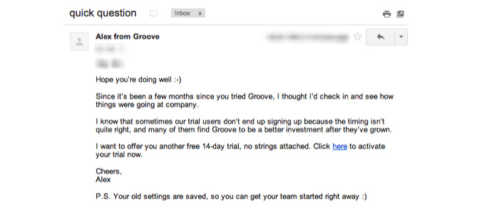 Plan text customer onboarding email example
