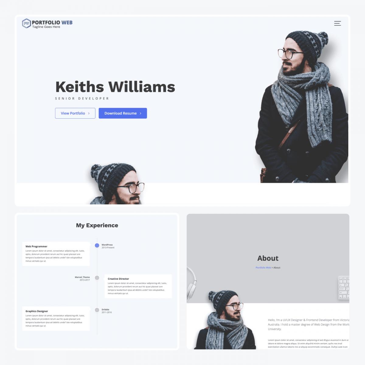 Portfolio Web theme demo