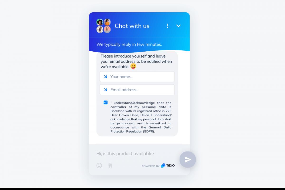 Pre-survey chat in Tidio widget
