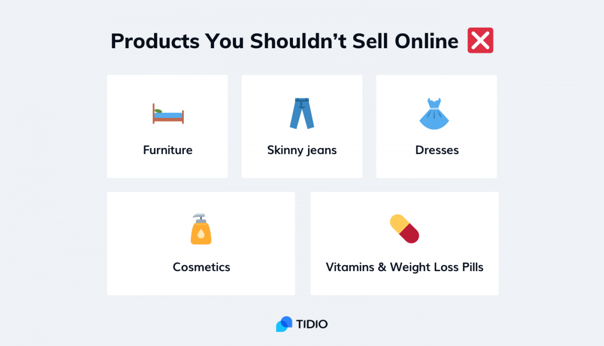 Things you should not sell online - infographic