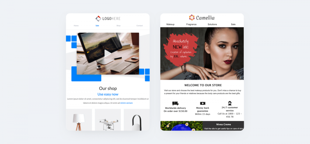 Promo email templates