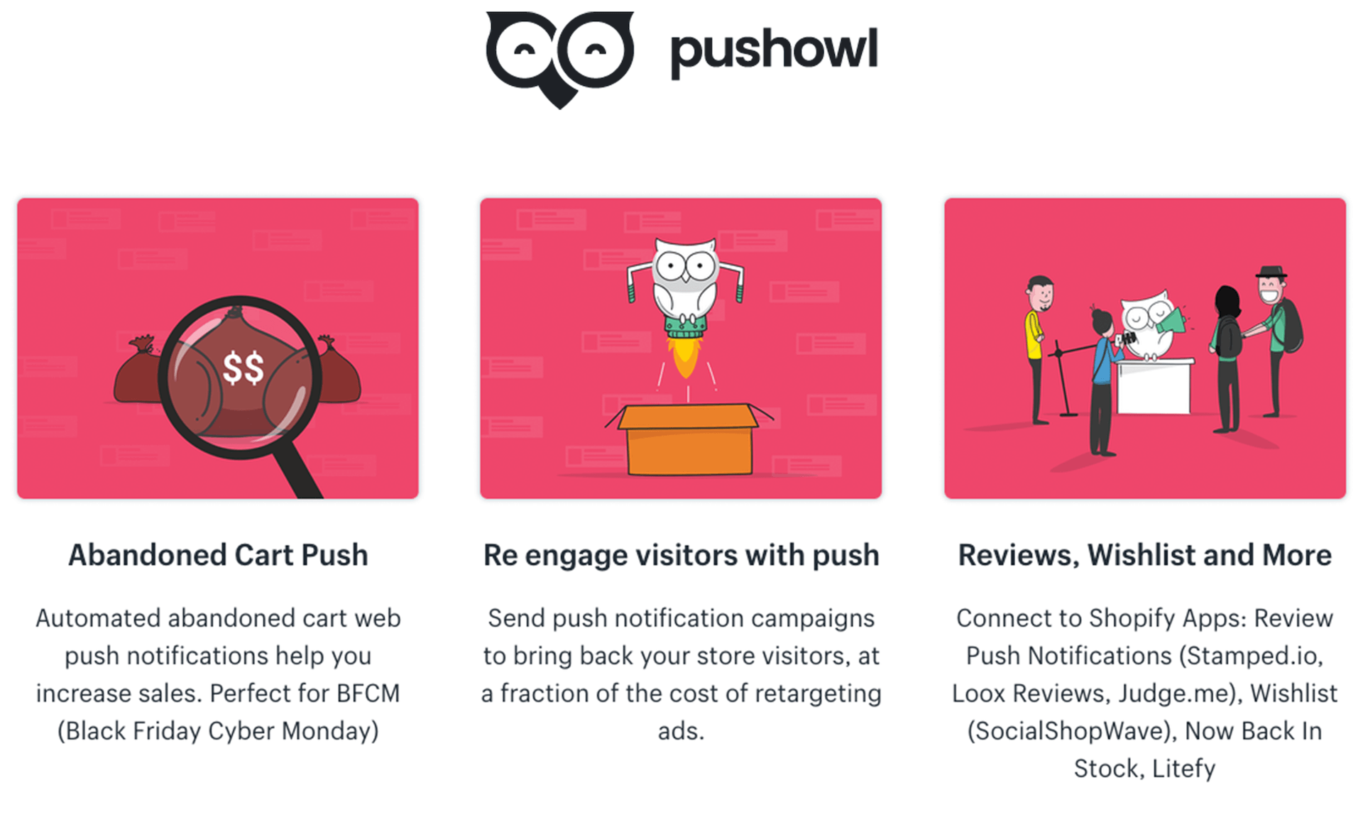 Pushowl - web push notifications