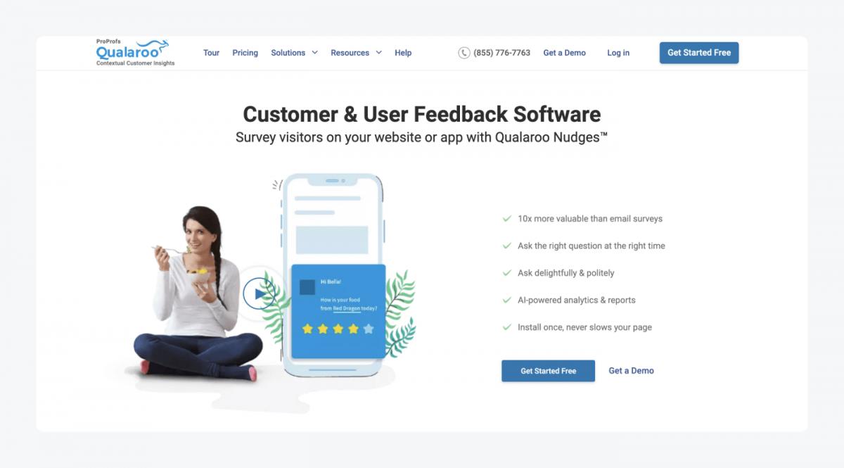 Qualaroo's homepage