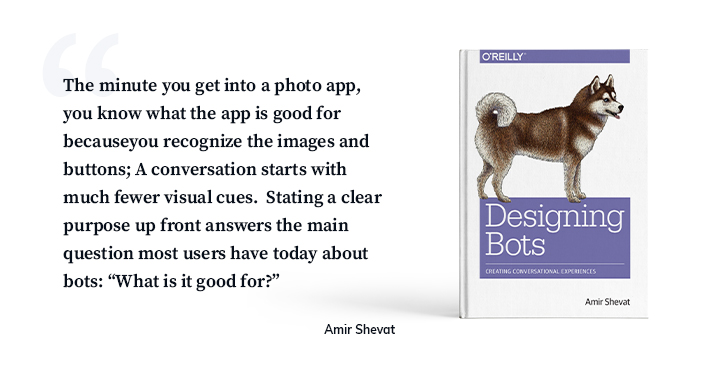 A quote from a famous chatbot designer