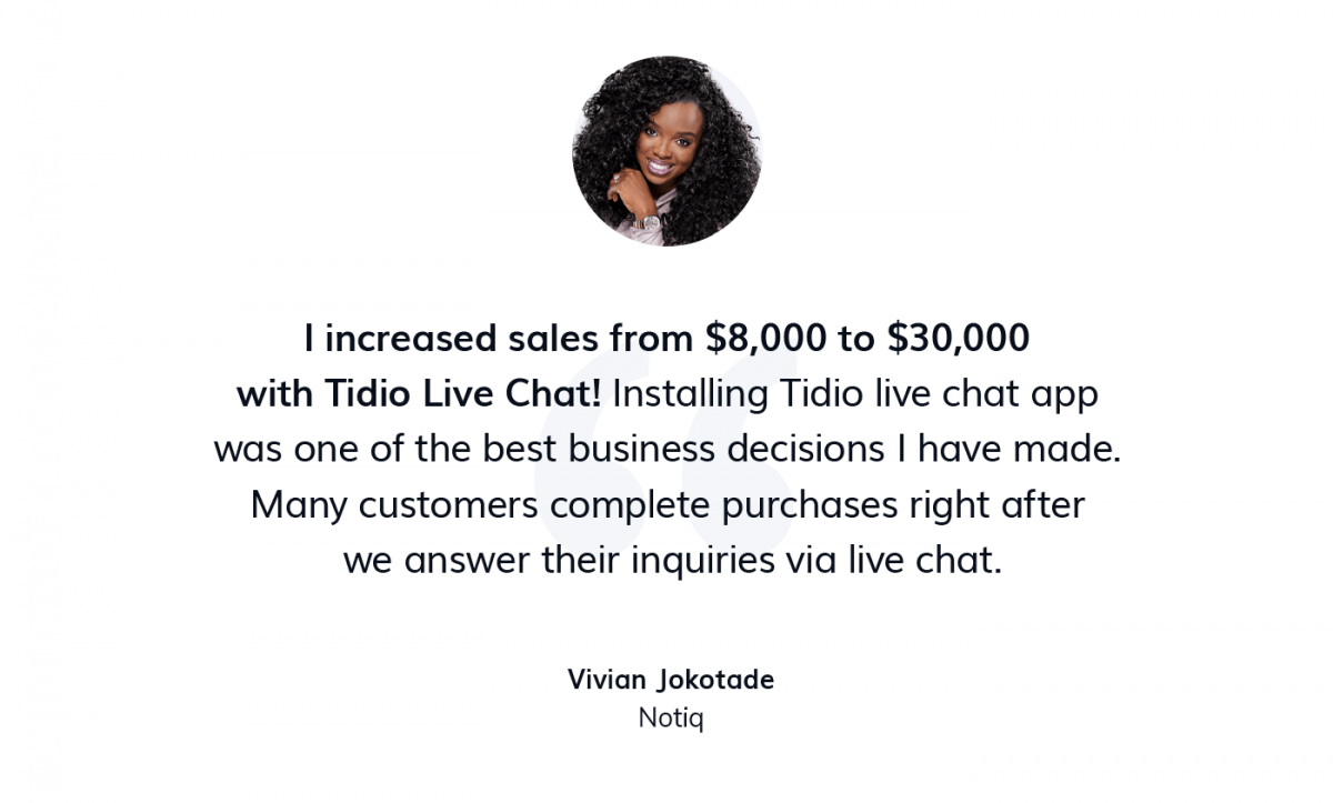 A quote from the owner of Notiq