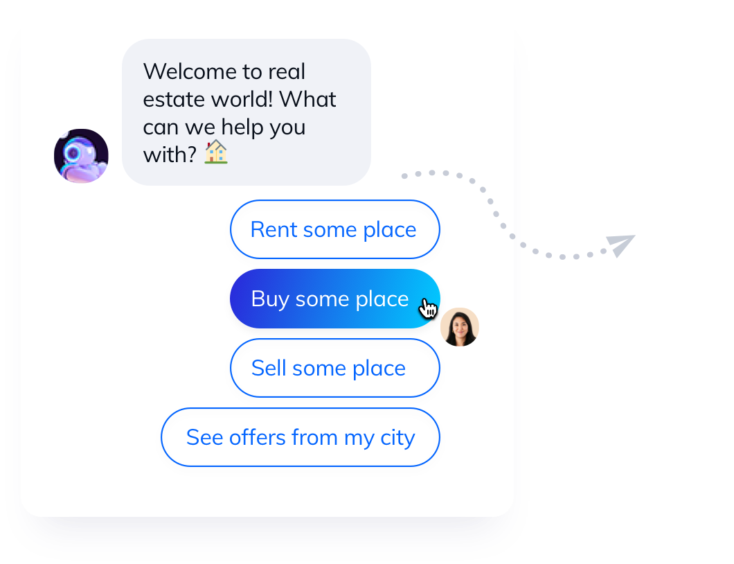 A conversational chatbot used instead of a form