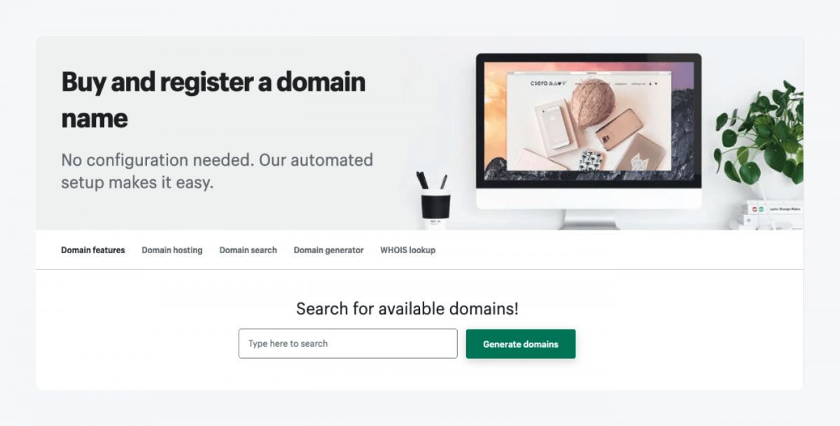 How to register a domain name in Shopify