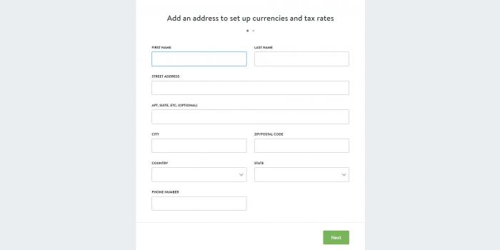 shopify register form