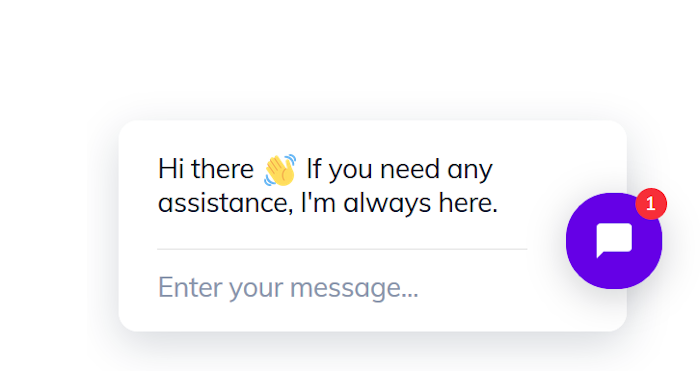 A standard greeting used by an ecommerce chatbot