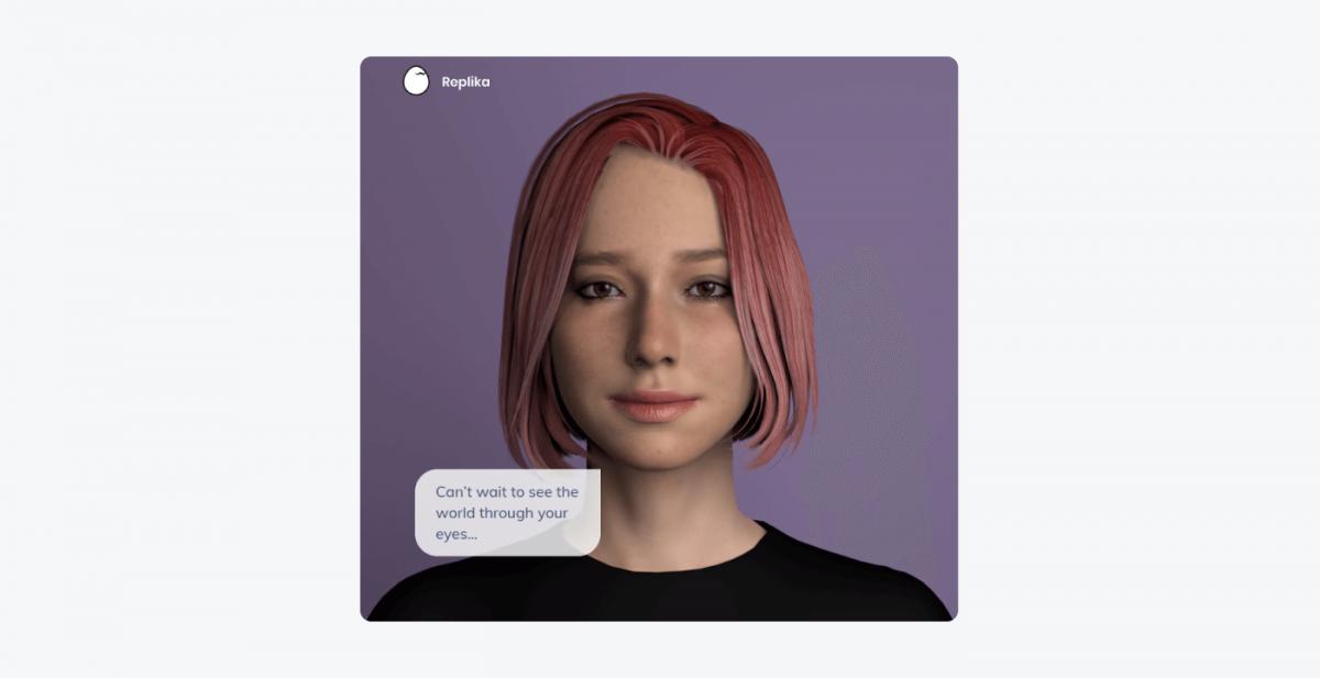 Replika chatbot example