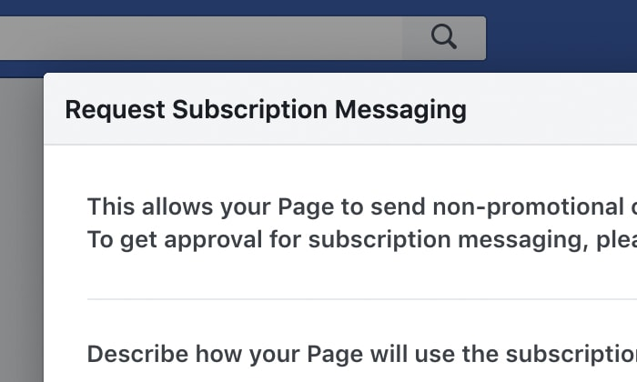 Request Subscription Messaging