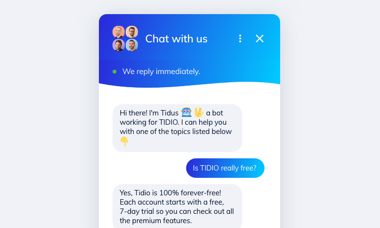 Chatbot response