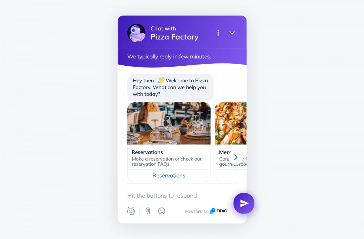 Pizza restaurant chatbot
