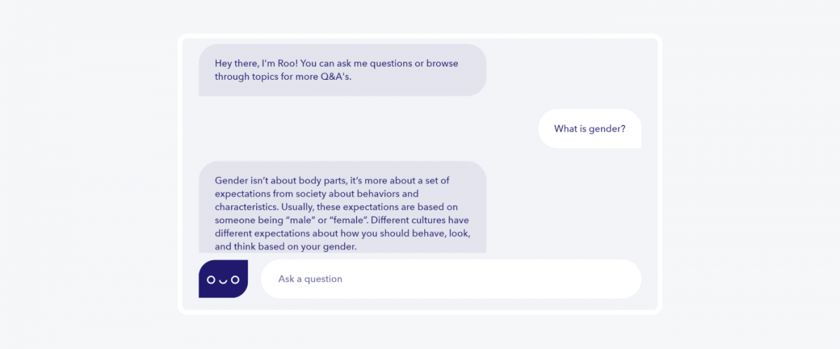 Roo chatbot example