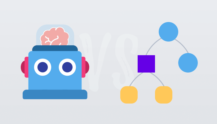 Rule-based vs AI Chatbot Example