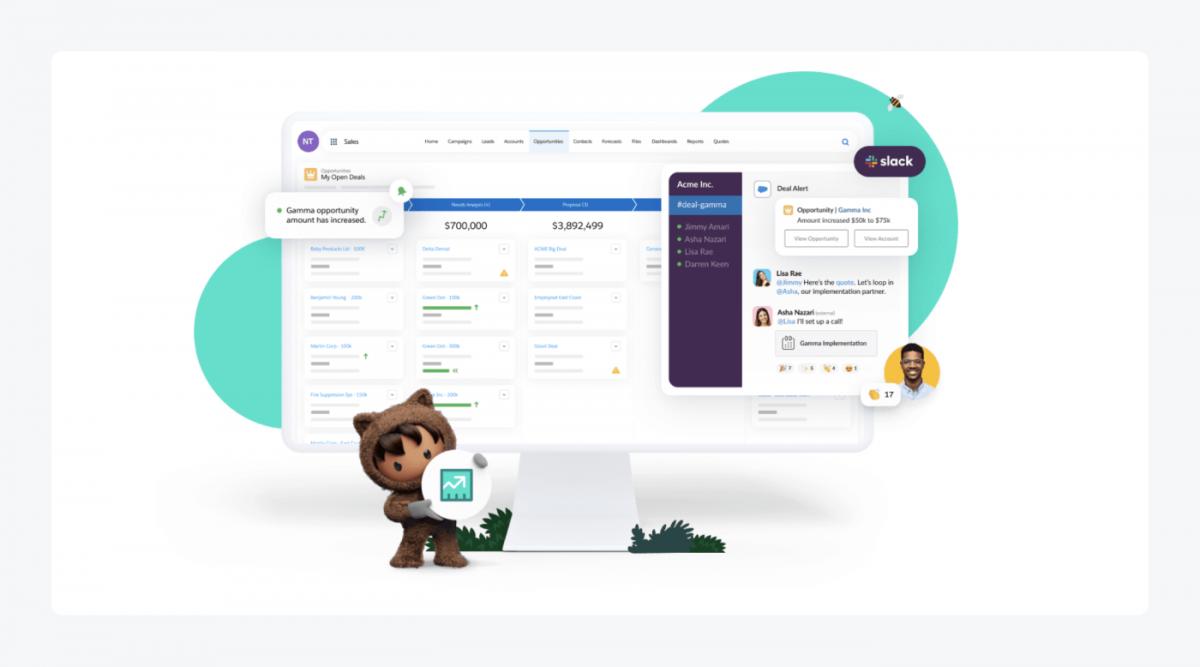 Salesforce's website screenshot