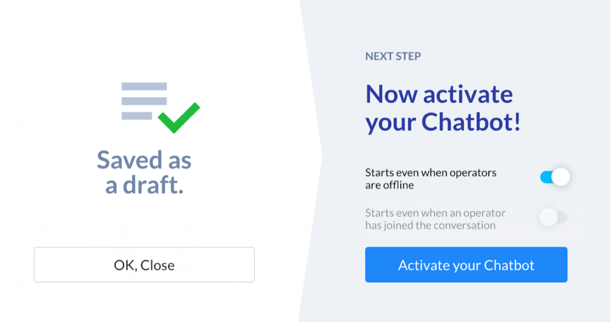 How to activate an AI chatbot