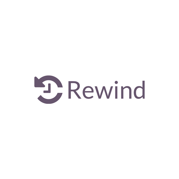Rewind Backups for BigCommerce - logo, features, and pricing section illustration
