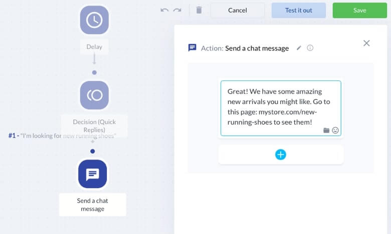 Send a message by chatbot