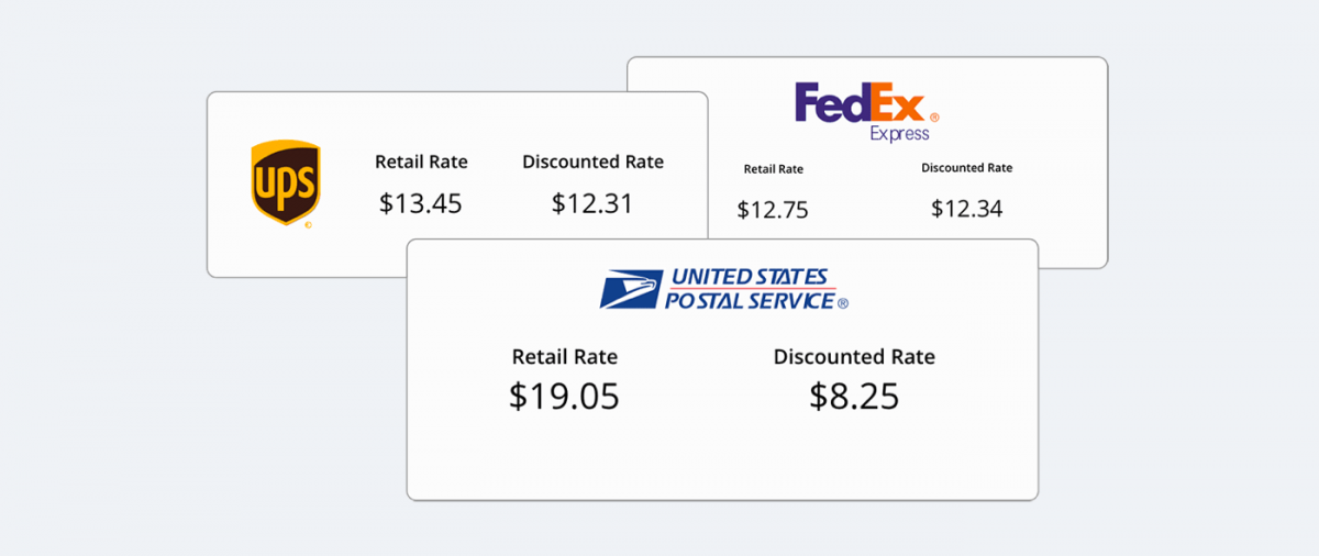 Shipping rates and popular companies