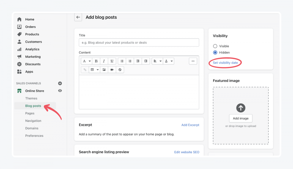 How to add blog posts in Shopify