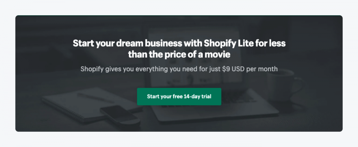 Shopify Live page