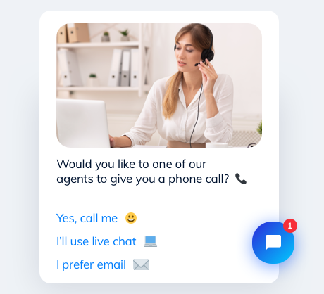 A live chat vs phone support - ordering phone calls with live chat