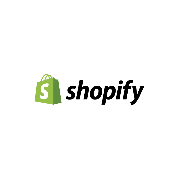 The logo of Shopify