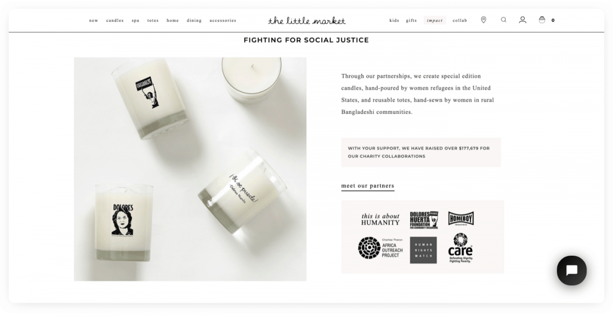The Little Market Shopify store