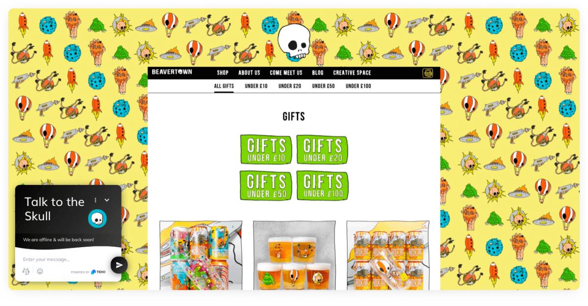 Beavertown store on Shopify