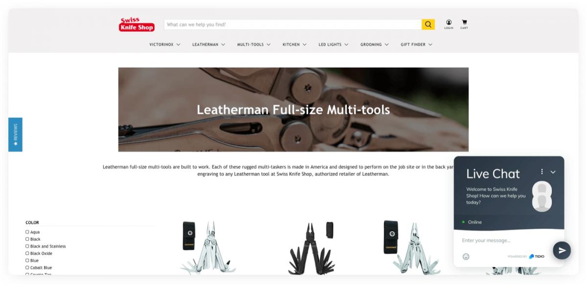 Swiss Knife Shop on Shopify