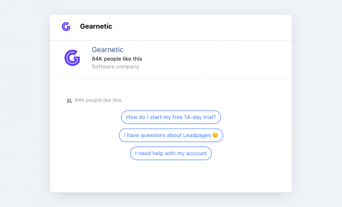 A Facebook chatbot with decision buttons