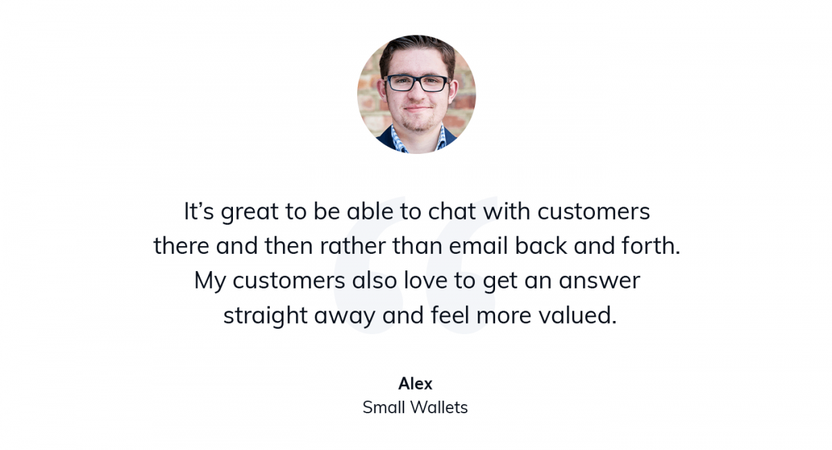 A quote from the CEO of Small Wallets